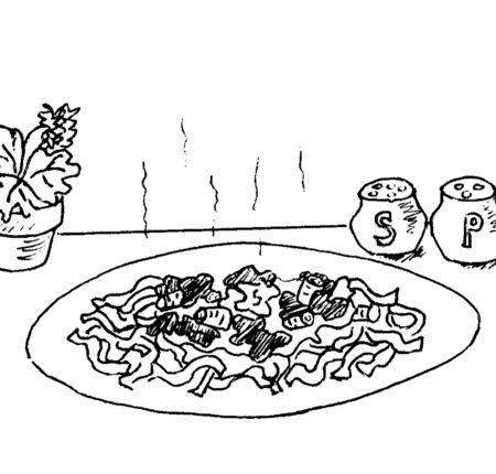 Plaat van voedsel Stock Illustratie