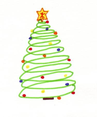 spiral christmas tree stock vector 2056120