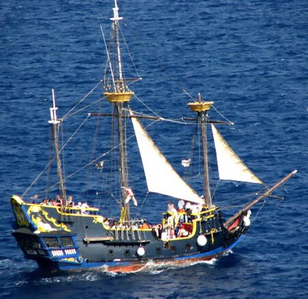 Piratenschip Stockfoto