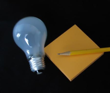 Lightbulb and Notes