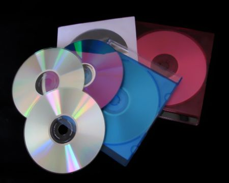 cds: CDs and Cases Stock Photo