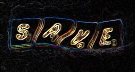 Save Swirl Zdjęcie Seryjne