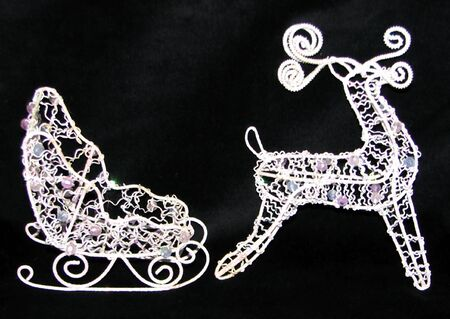 Sleigh and Reindeer Stock Photo - 2112162