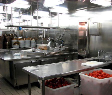 cocinas industriales: Cocina Del Acero Inoxidable Foto de archivo