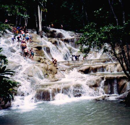 Dunn River Jamaica Zdjęcie Seryjne