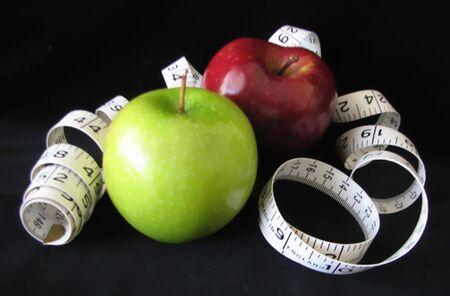 リンゴと巻尺 写真素材