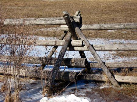 fence: Rail Fence Stock Photo