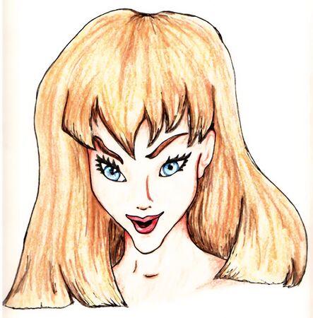 Cartoon Girl Ilustrace
