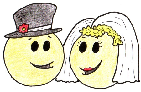 Smiley Wedding Couple