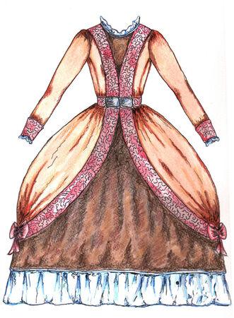 petticoat: Brown Dress