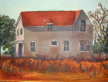 old barn: Agriturismo Vettoriali