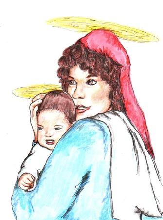 예수와 마리아 일러스트