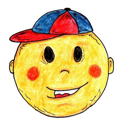 human face: Boy Smiley Face