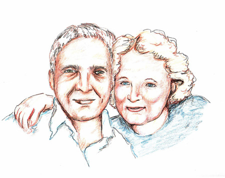 personas mayores: Pareja de ancianos