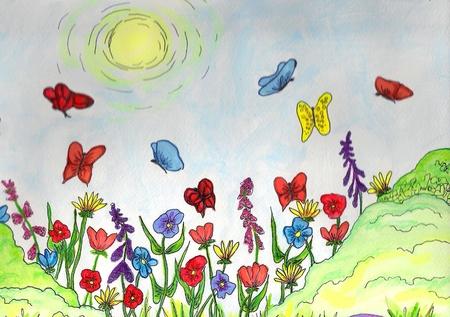 Zon en Bloemen