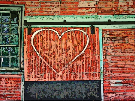Heart on Barn Door