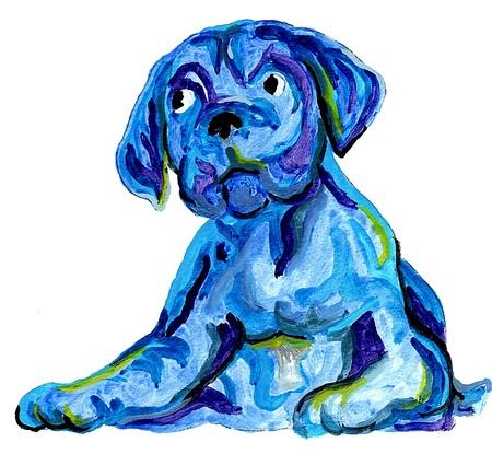 perro boxer: Perro Azul