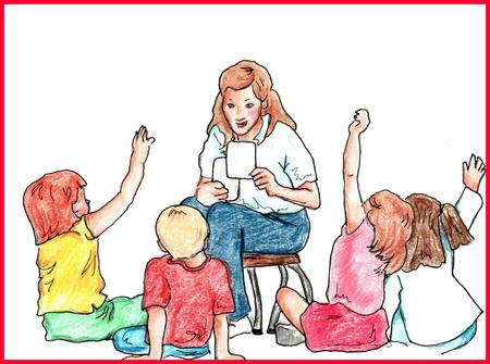 Classroom Teacher teaching kids at school