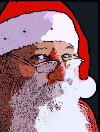 yule tide: Christmas Santa Claus Face