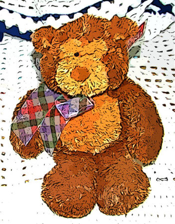 Cute Brown Teddy Bear Kids Toy Ilustracja