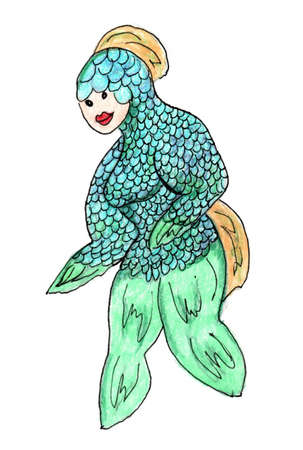 Blue Green Outer Space Alien from Another Planet with Scales