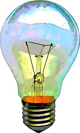 Electric Light Bulb Illustration for Bright Ideas Imagens - 24540177