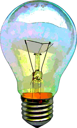 Electric Light Bulb Illustration for Bright Ideas