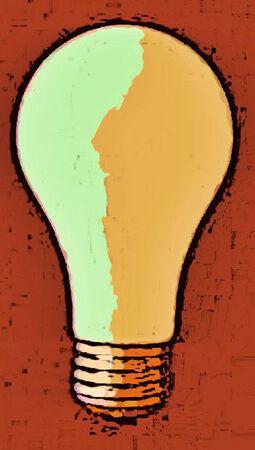 Electric Lightbulb for Ideas Иллюстрация