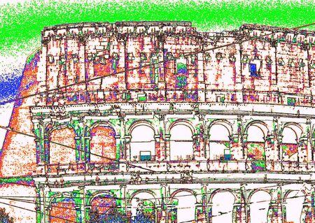 Roman Colisium Иллюстрация