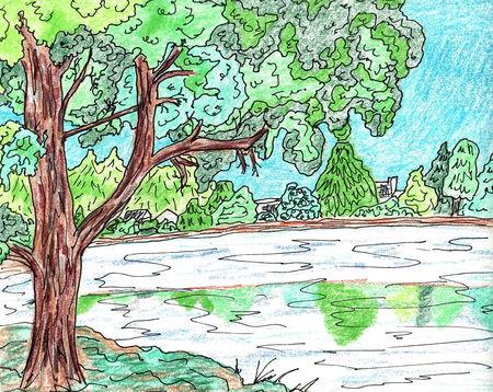 landscape painting: Landscape Painting