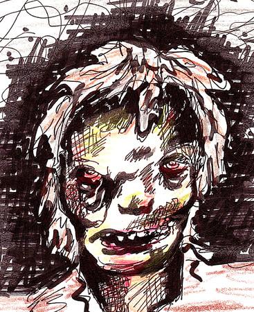 frightful: Zombie Monster Illustration