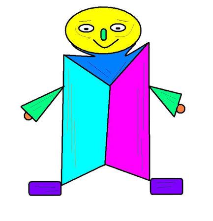 Colorful Man Иллюстрация
