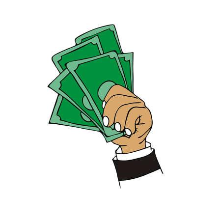 Geld geld Cartoon Stock Illustratie