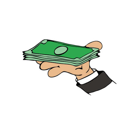 cash money: Money cash Cartoon Illustration