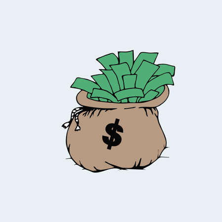 bag cartoon: Money bag Cartoon