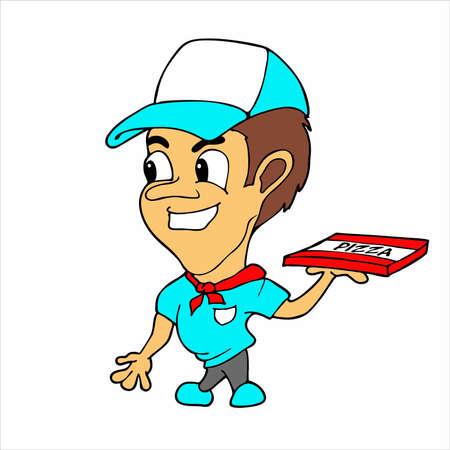pizza maker: Pizza delivery boy