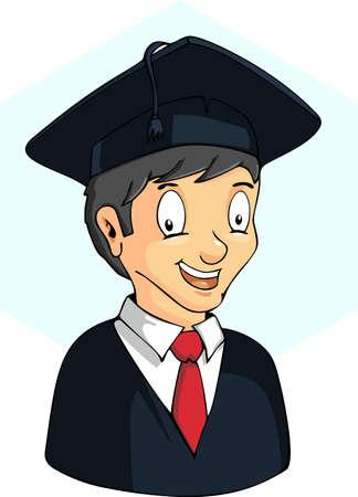 commencement exercises: Illustration of Graduates Illustration