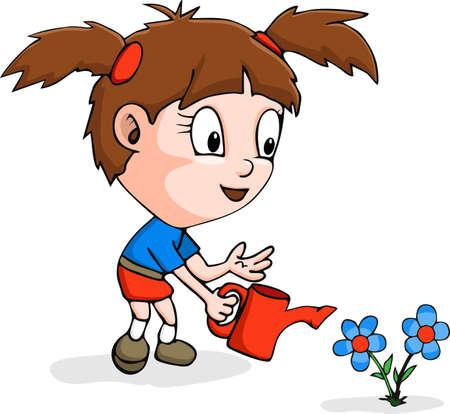 Image with gardener theme Illustration