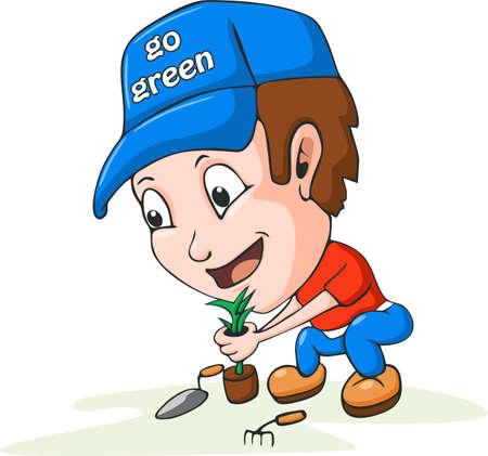 pitchfork: Gardening Illustration