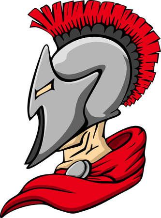 the trojan: Spartan Trojan Mascot Illustration