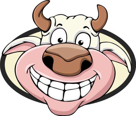 Illustration cartoon cow head Banco de Imagens - 60399998