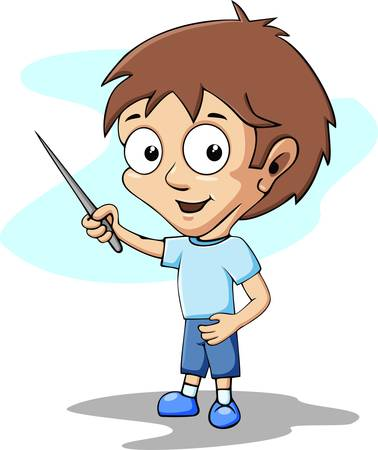 Boy student in the classroom Illustration