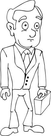 cult: Vector illustration draw doodle cult businessman cartoon Illustration