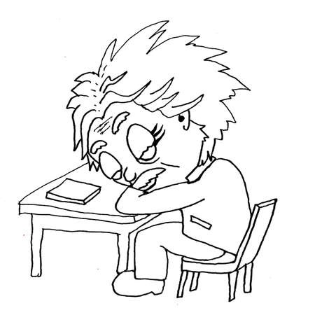 mathematician: tired einstein sleeps at the table