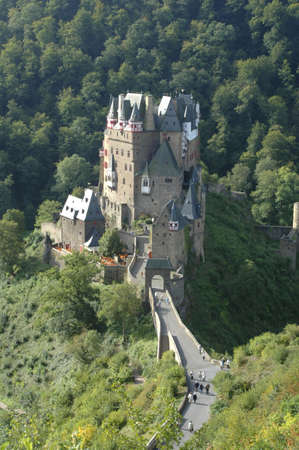 mosel: view of burg eltz in the forest, mosel valley,germany Editorial