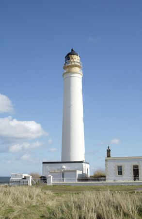 lothian: barns Ness lighthouse in east lothian scotland                                Stock Photo