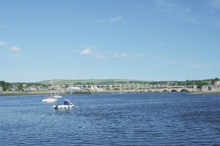 river Tweed estuary to bridges of Berwick upon Tweed photo
