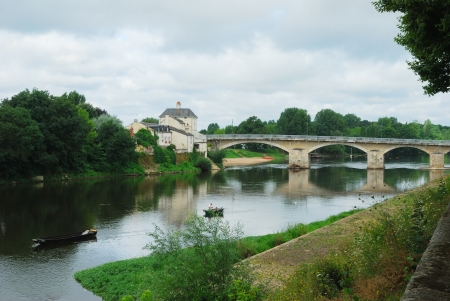 chinon: fishing on the Loire at Chinon