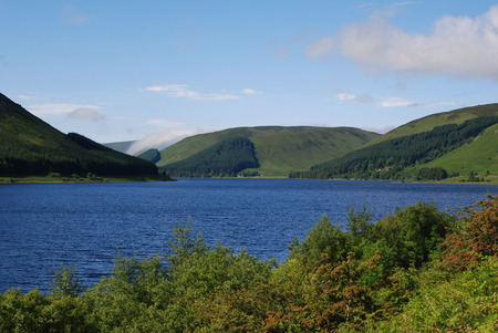 view of St. Marys loch in Scottish Borders in summer Zdjęcie Seryjne