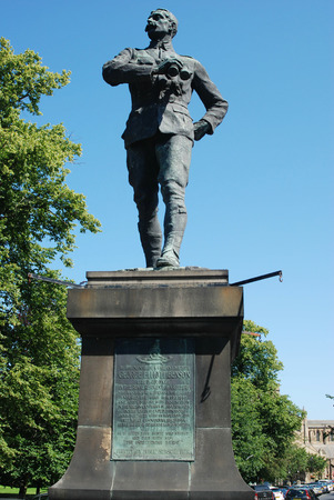 statue to a gallant soldier erected in Hexham